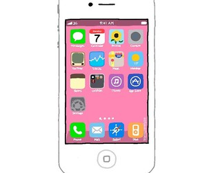 iphone and transparent image