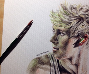 blond, draw, and niall horan image