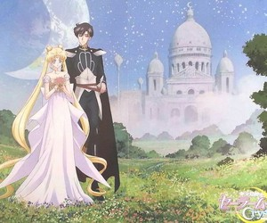 anime, sailor moon, and castle image