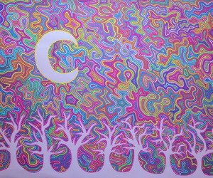 artwork, trippy, and psychedelic image