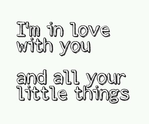 black and white, little things, and Lyrics image