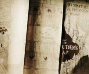 harry potter, hp, and map image