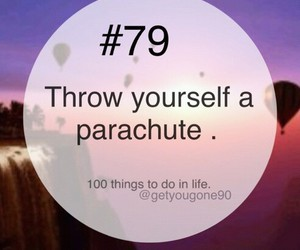 79, 100 things to do in life, and parachute image