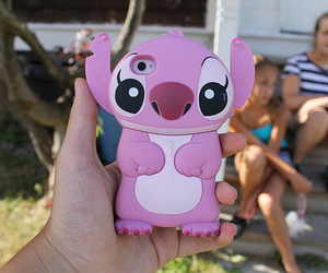 iphone, stitch, and pink image