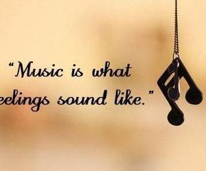 music, quote, and feelings image