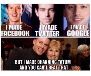 channing tatum, facebook, and twitter image