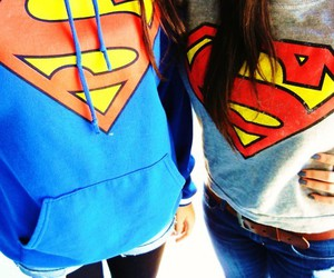 brown, girls, and superman image