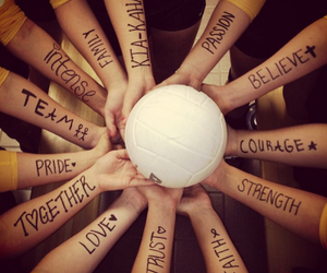 spirit, team, and volleyball image
