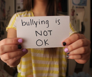 bullying, not, and text image