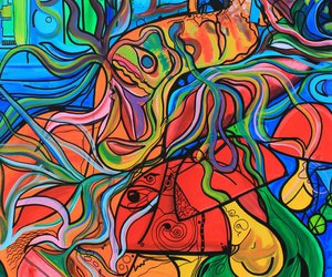 artwork, psychedelic, and trippy image