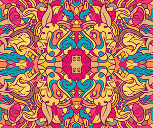 hippie, psychedelic, and trippy image