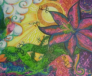 art, hippie, and psychedelic image