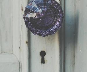 door, purple, and vintage image