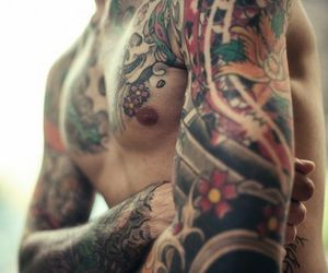 ink, tattoo, and japanese image