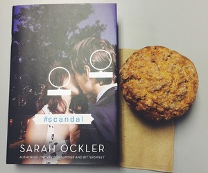 books, cookie, and kiss image