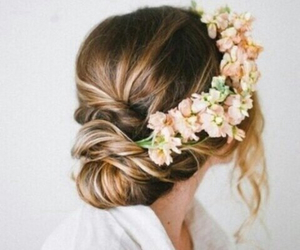 flowers, gorgeous, and hair image
