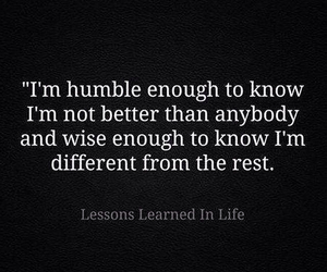 different, humble, and quote image