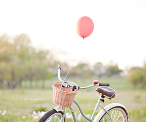 bike, balloons, and bicycle image