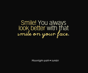 text, smile, and words image