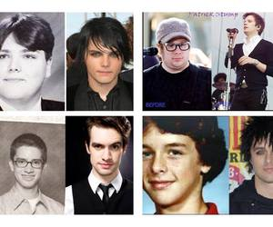 before and after, billie joe armstrong, and brendon urie image
