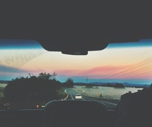 car, sky, and grunge image