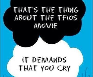 cry, tfios, and movie image