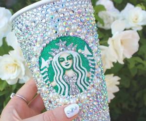 starbucks, coffee, and glitter image