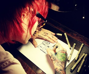 artist, cool, and red. art image