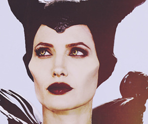 Angelina Jolie, green eyes, and maleficent image