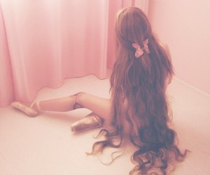 hair, ballet, and doll image