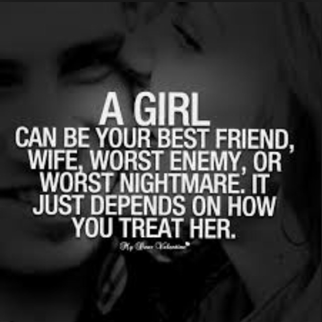 Always treat her right. shared by Anilem on We Heart It
