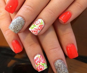 flores, flowers, and nails image