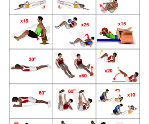 body, boys, and exercises image