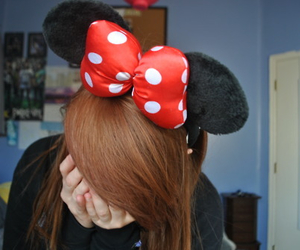 girl, hair, and minnie mouse image