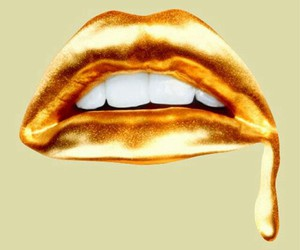 lips, gold, and teeth image