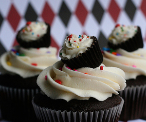 pattern, fortumblr, and cupcakes image