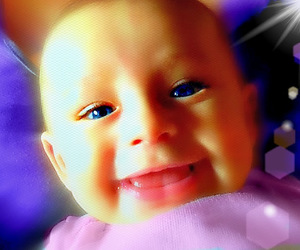 babies, happy, and blue eyes image