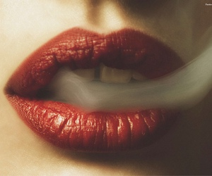 smoke, lips, and red image