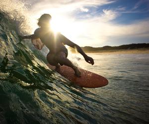 beach, boy, and sun image