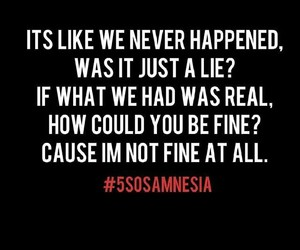 5 seconds of summer, song, and amnesia image