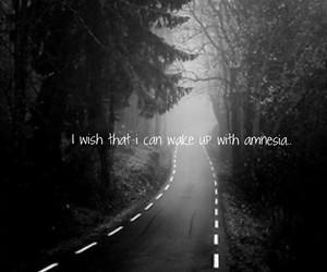 quote, sad, and amnesia image