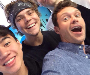 calum hood, ashton irwin, and luke hemmings image