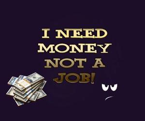 :), job, and money image