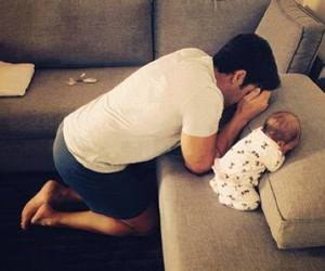 baby, dad, and so image