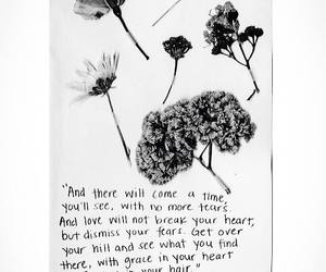 flowers, hair, and heart image