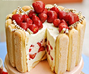 dessert, food, and strawberries image