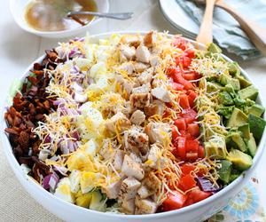bacon, food, and salad image