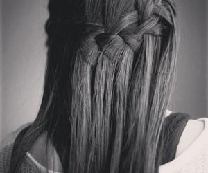 b&w, hair, and 100happydays image