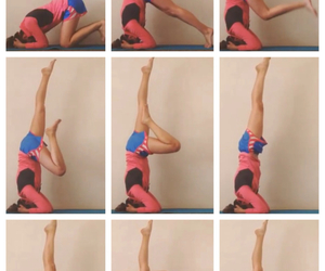 headstand and yoga image