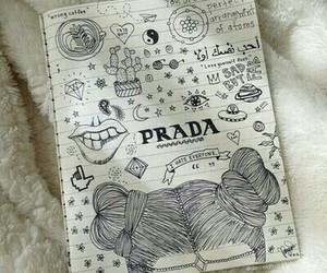 drawing, Prada, and art image